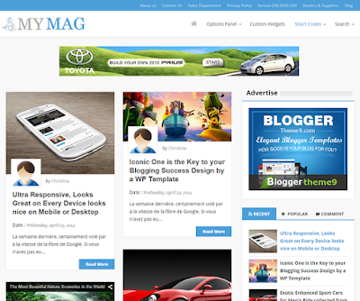 MyMag Responsive Blogger Template