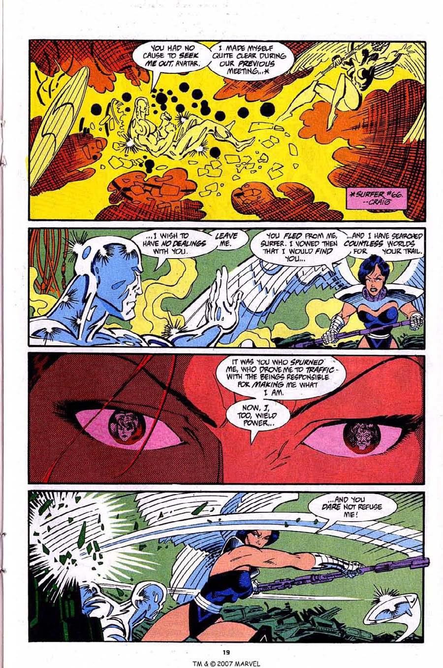 Read online Silver Surfer (1987) comic -  Issue #92 - 21