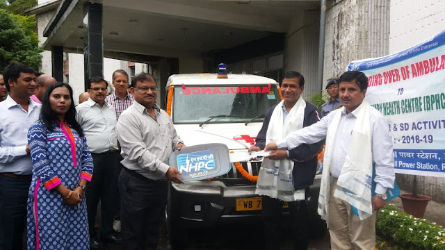 NHPC presents Ambulance to Rambi BHPC