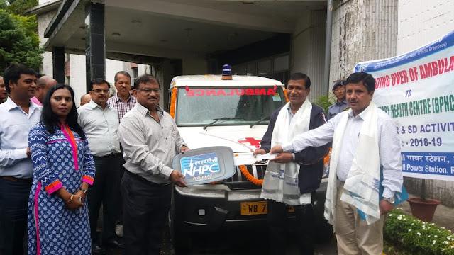 NHPC presents Ambulance to Rambi BHPC