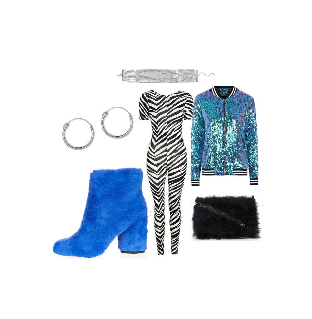 autumn winter outfit inspiration, autumn winter outfit flatlays, 90s grunge winter outfit, winter autumn ootn, night out winter outfit, mermaid sequin jacket, zebra unitard 1
