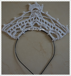 free crochet pattern for baby tiara
