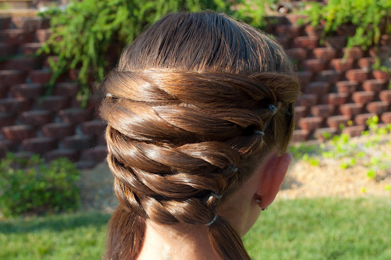 It S Our Basket Weaving Hairstyle From Last Week And Very Easy As You Will See