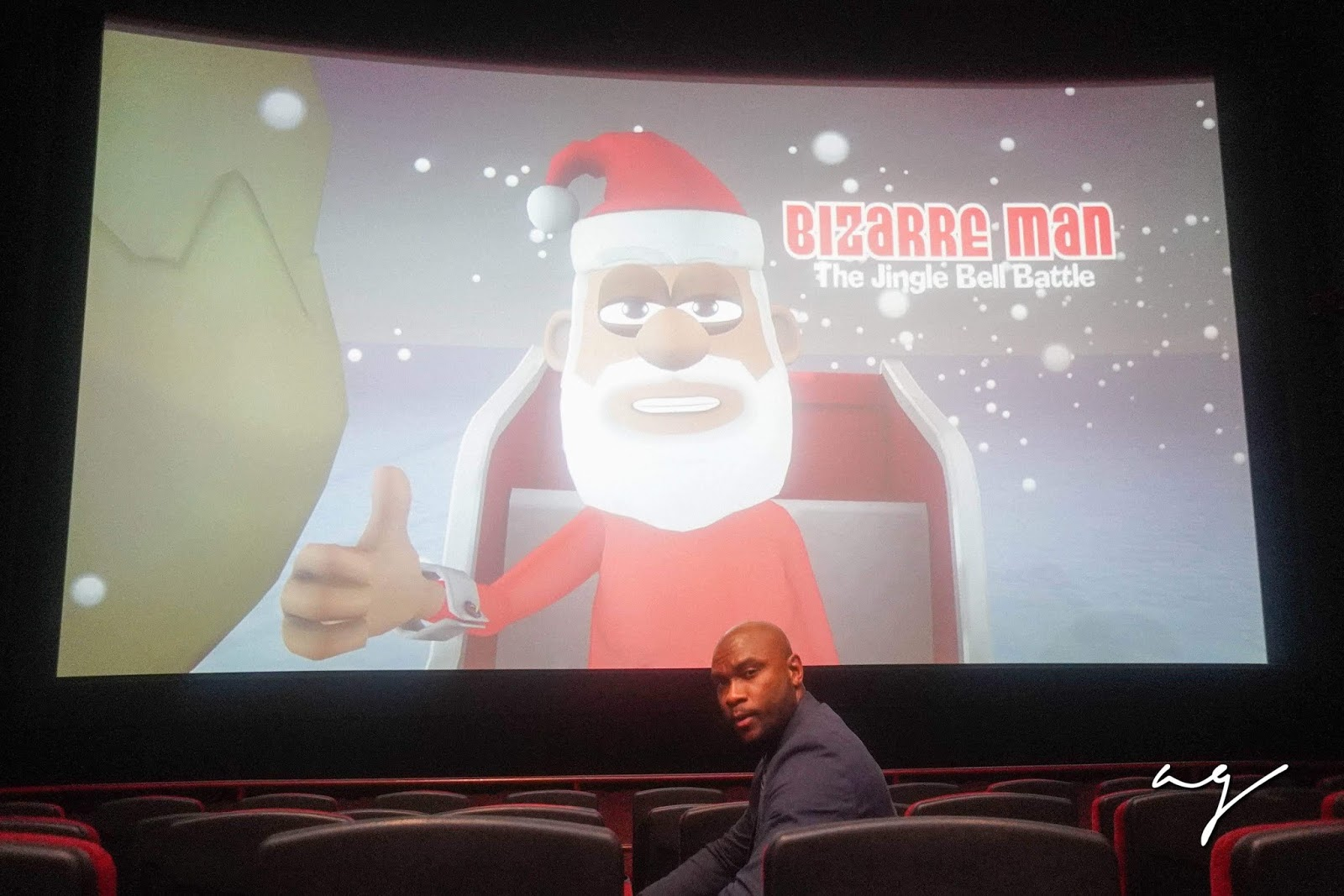 "PICS: Premiere of ""Bizarre Man: The Jingle Bell Battle"""