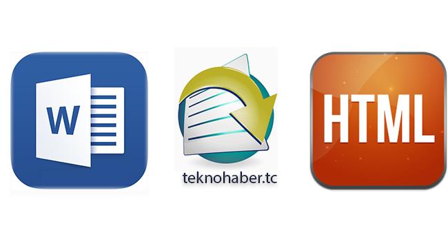 Microsoft Word 2016 da Belgeleri HTML e Dönüştürme