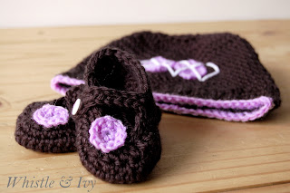 Crochet Little Dot Mary Janes and Argyle Hat