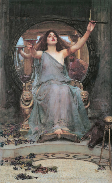Circe Offering the Cup to Ulysses by John William Waterhouse (1891)