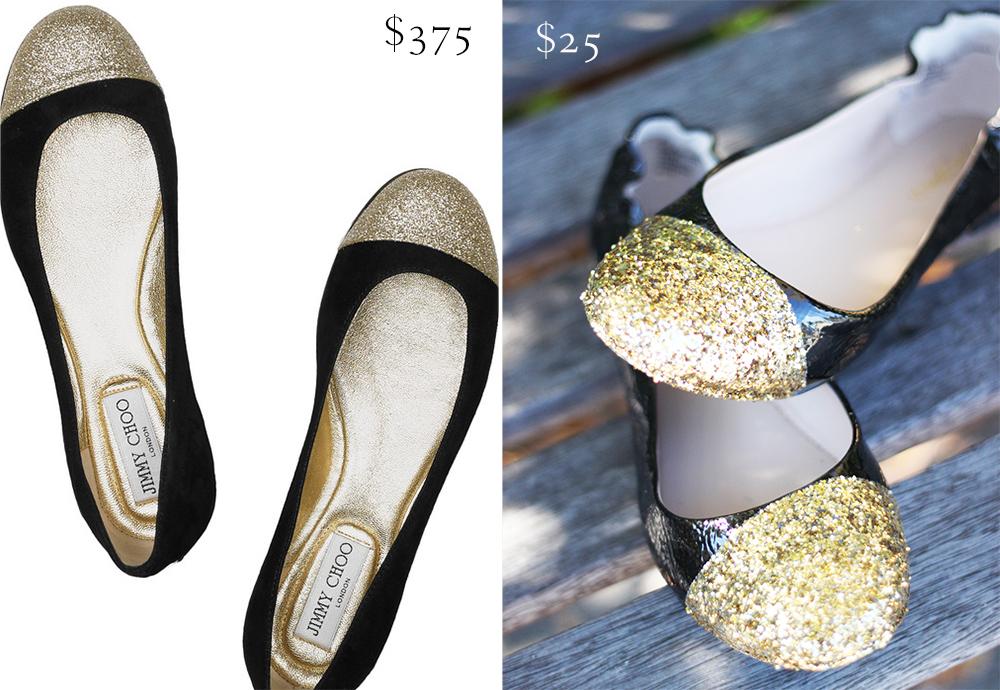 Look For Less Diy Glitter Shoes Michaela Noelle Designs