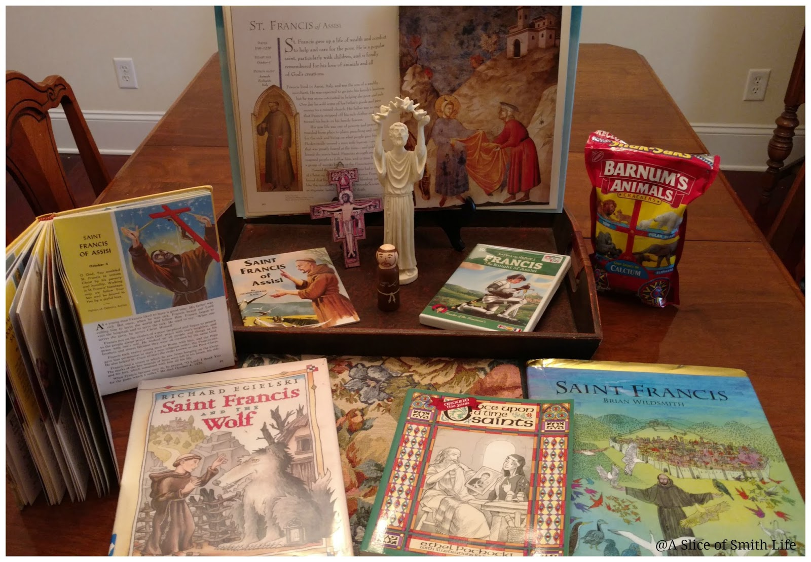The Books That We Enjoy About Saint Francis I Personally Own Or Borrowed From Library Are Saints And Angels This Is Book Opened In Back