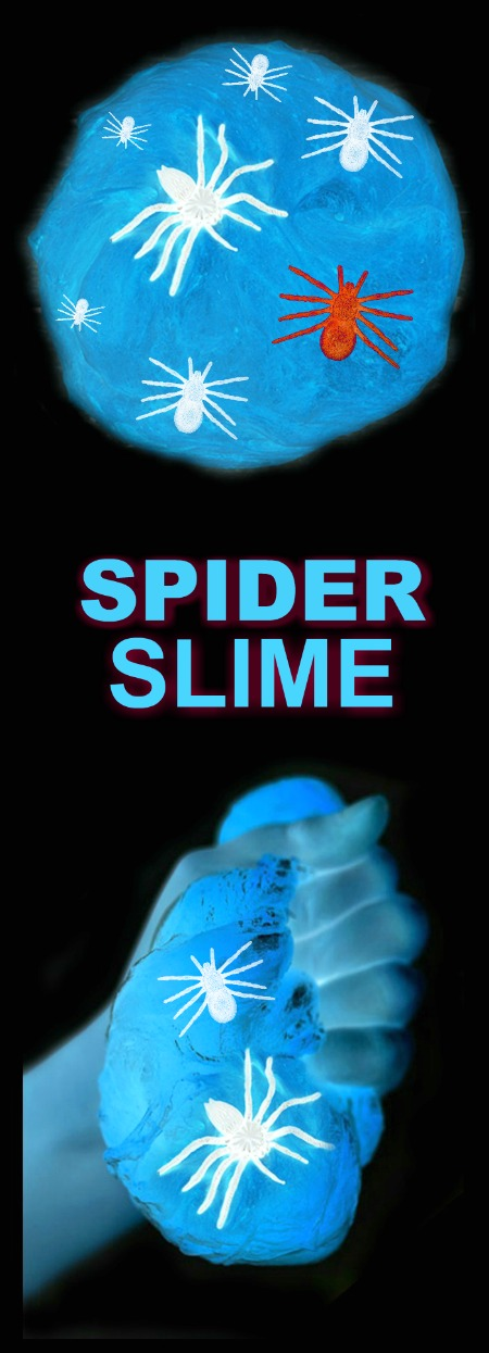 GLOWING SPIDERWEB SLIME- creepy-crawly fun for kids of all ages! (easy recipe)