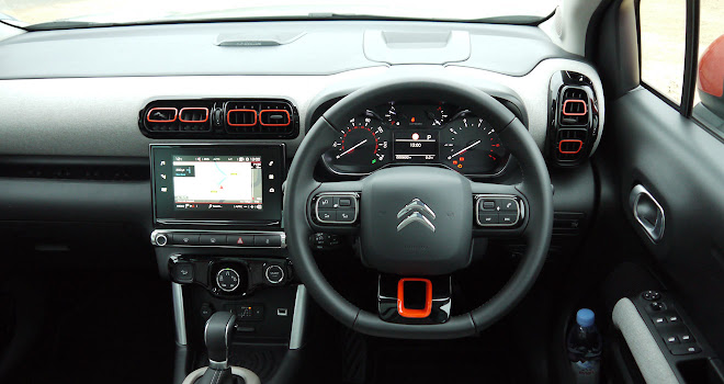 Citroen C3 Aircross driver's view