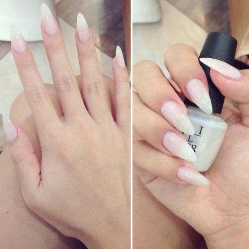 White-nail-arts