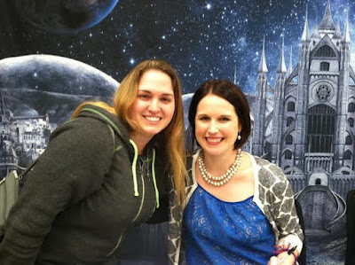 Amber, the Blonde Writer with Marissa Meyer. Photo taken by Amber Morrison.