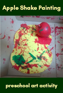 Apple Shake Painting preschool art activity
