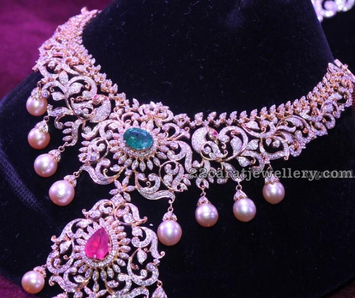Dazzle Heavy Indian Diamond Sets Jewellery Designs
