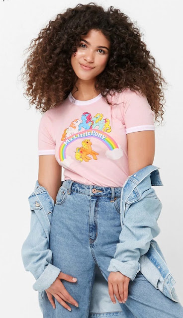 90s themed shirts My Little Pony cropped t shirt Forever 21 90s cartoon shirts