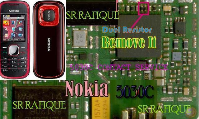 Nokia 5030 contact service