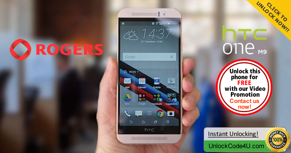 Factory Unlock Code HTC One M9 from Rogers