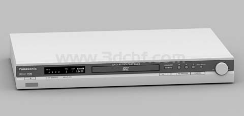 dvd player 3d model free