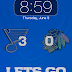 Blues Scoreboard - iPhone Lockscreen