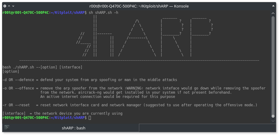 shARP - anti-ARP-spoofing application software and uses active