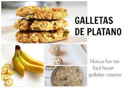 Galletas veganas preparadas con platanos y avena. Imprescindibles dietas