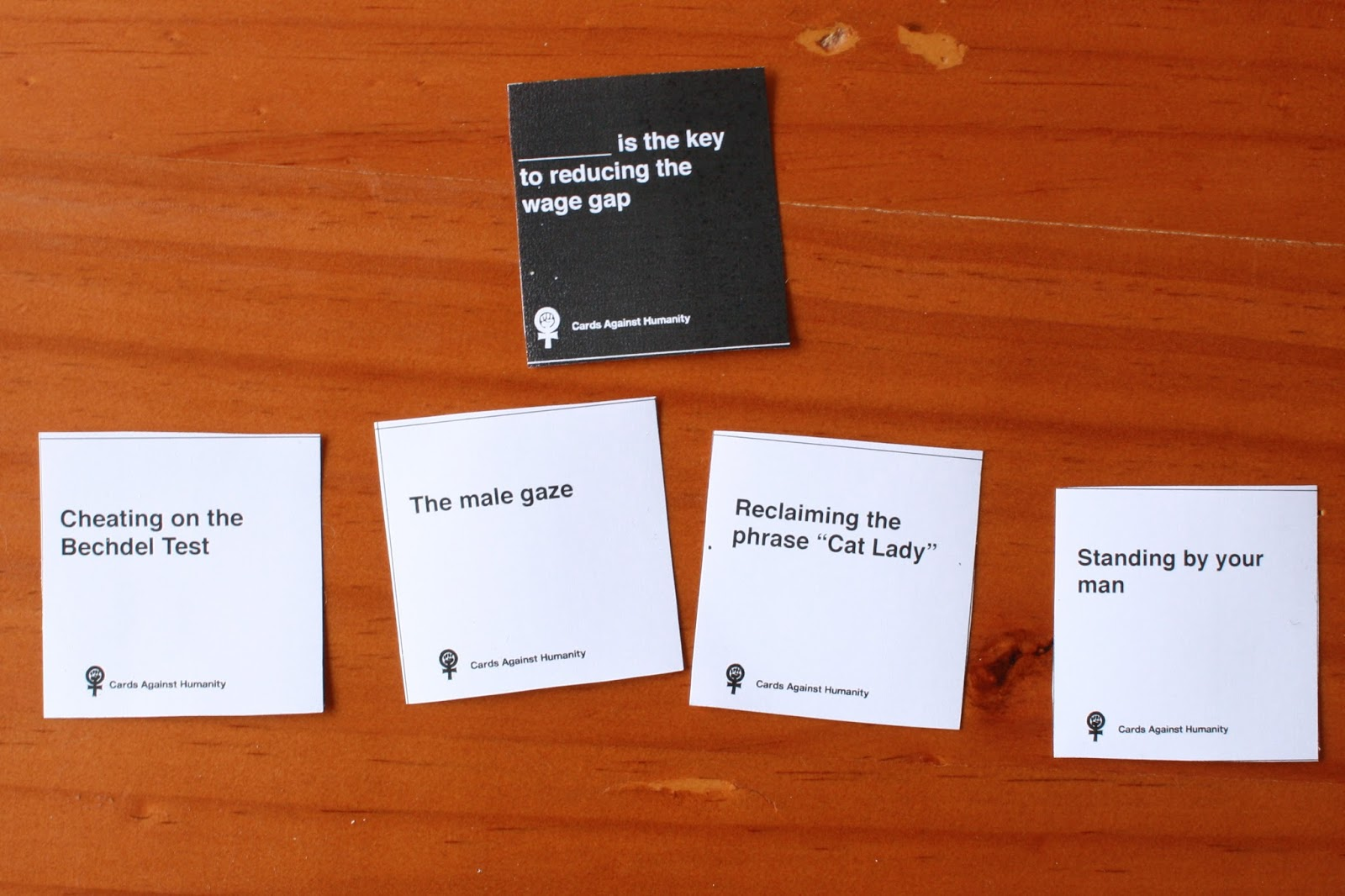 Image of: Fasten Some Feminist Cards Against Humanity Cards Refer To Me Personally Rachel Rayner Feminist Cards Against Humanity Rachel Rayner