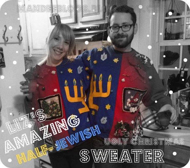 Jewish Christmas Sweater.Mandeeblogs Liz S Amazing Half Jewish Ugly Christmas Sweater