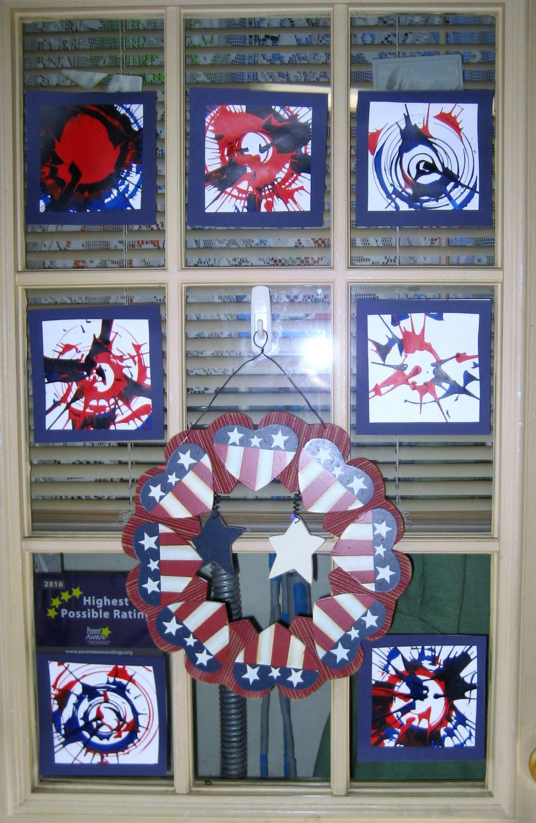 Treasures Of The Heart Preschool And Child Care 4th Of July Spin Art
