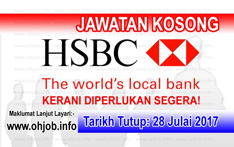 Jawatan Kerja Kosong HSBC Bank Malaysia Berhad logo www.ohjob.info julai 2017