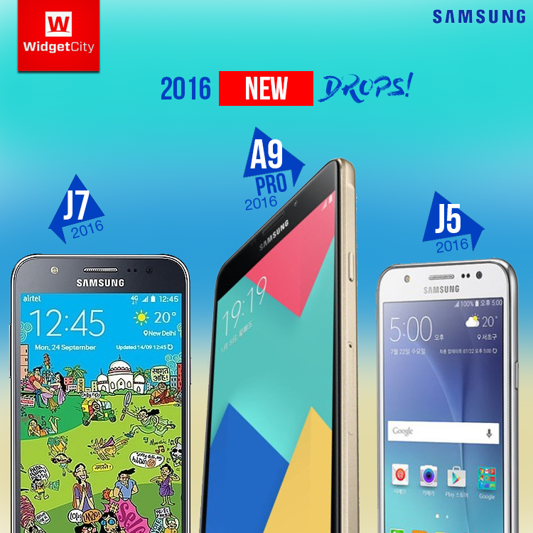 2016 Samsung J5, J7 and A9 PRO