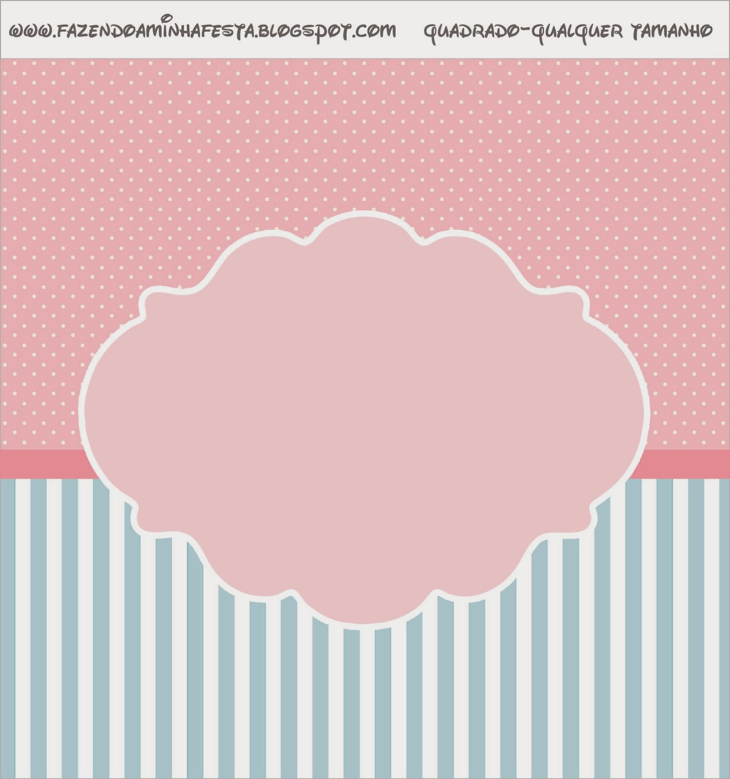 Pink, White and Light Blue Free Printable Labels.
