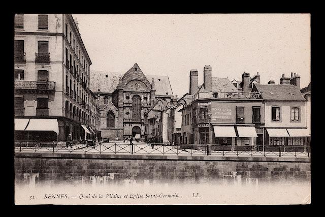 """""""31 RENNES. - Quai de la Vilaine et Eglise Saint-Germain. - LL."""""""
