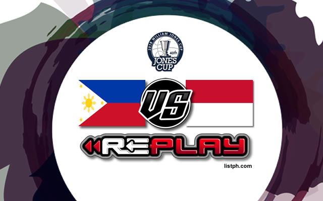 Video Playlist: Philippines-Ateneo vs Indonesia game replay July 19, 2018 Jones Cup