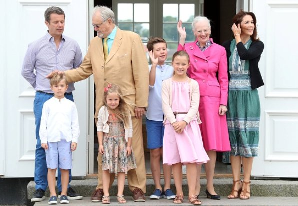 Crown Princess Mary, Crown Prince Frederik, Princess Josephine, Prince Christian, Princess Isabella, Prince Vincent