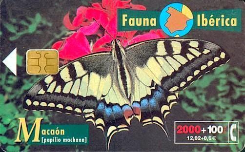 Tarjeta telefónica Macaón (Papilio machaon)