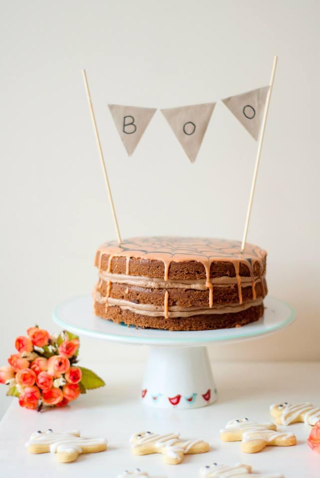 chocolate, orange, triple, layer, cake, recipe, food, blog, blogger, halloween, mummy, zombie, biscuits