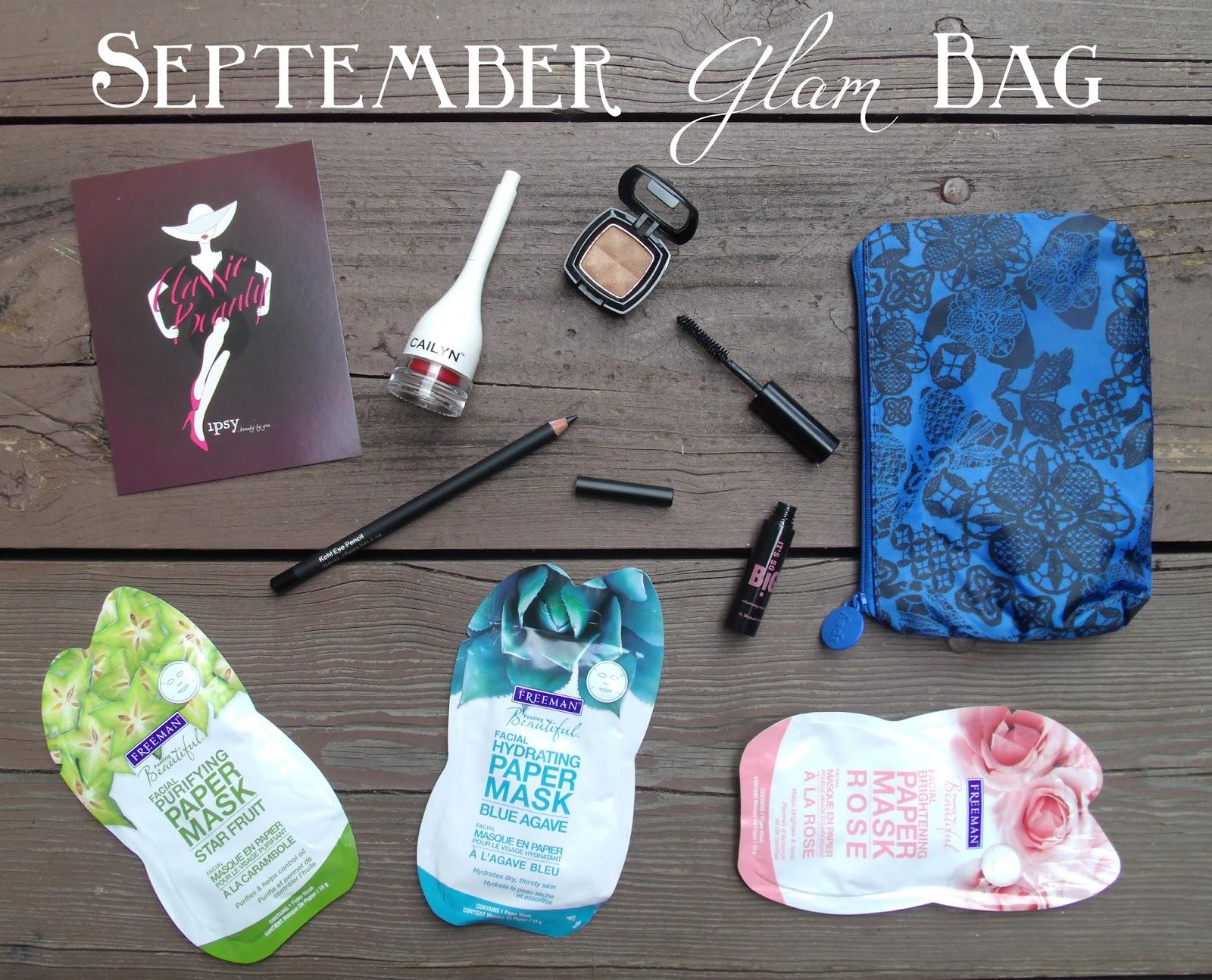 September 2013: Style & Books: Ipsy Glam Bag (September