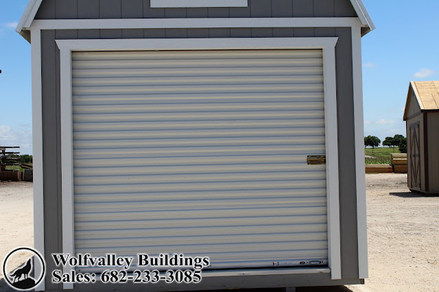 10x20 Lofted Motorcycle Garage Storage Shed