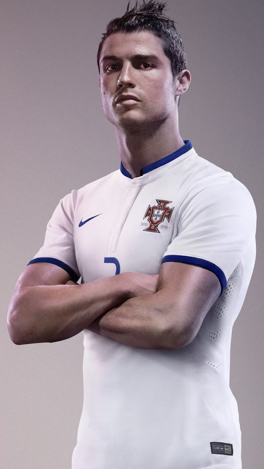 Cristiano Ronaldo White Jersey   Galaxy Note HD Wallpaper
