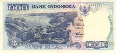 Gambar uang kertas Indonesia Rp 1000 tahun 1992