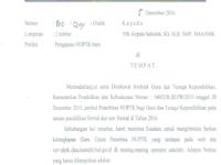 Contoh Surat Pengajuan NUPTK Baru untuk GTT dan OPS