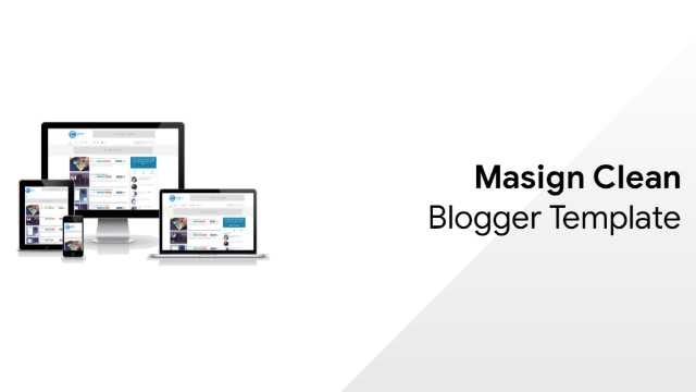 Masign Clean Blogger Template