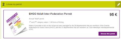 Frankrijk zelf visvergunning bestellen