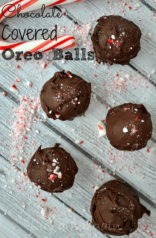 Chocolate Dipped Oreo Cake Balls, shared by Luv a Bargain