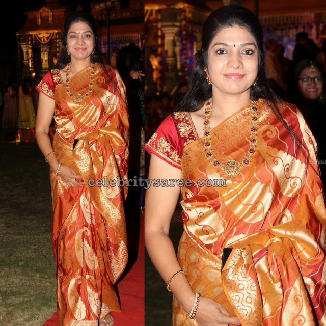 Vasuki in Silk Saree