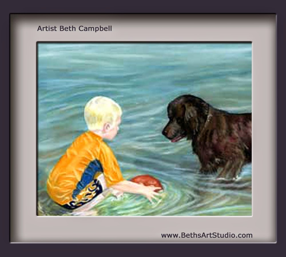 pastel painting chocolate lab