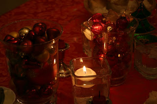 Candles at Christmas time