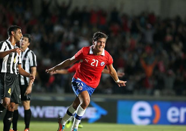 Chile y Costa Rica en partido amistoso, 22 de enero de 2014