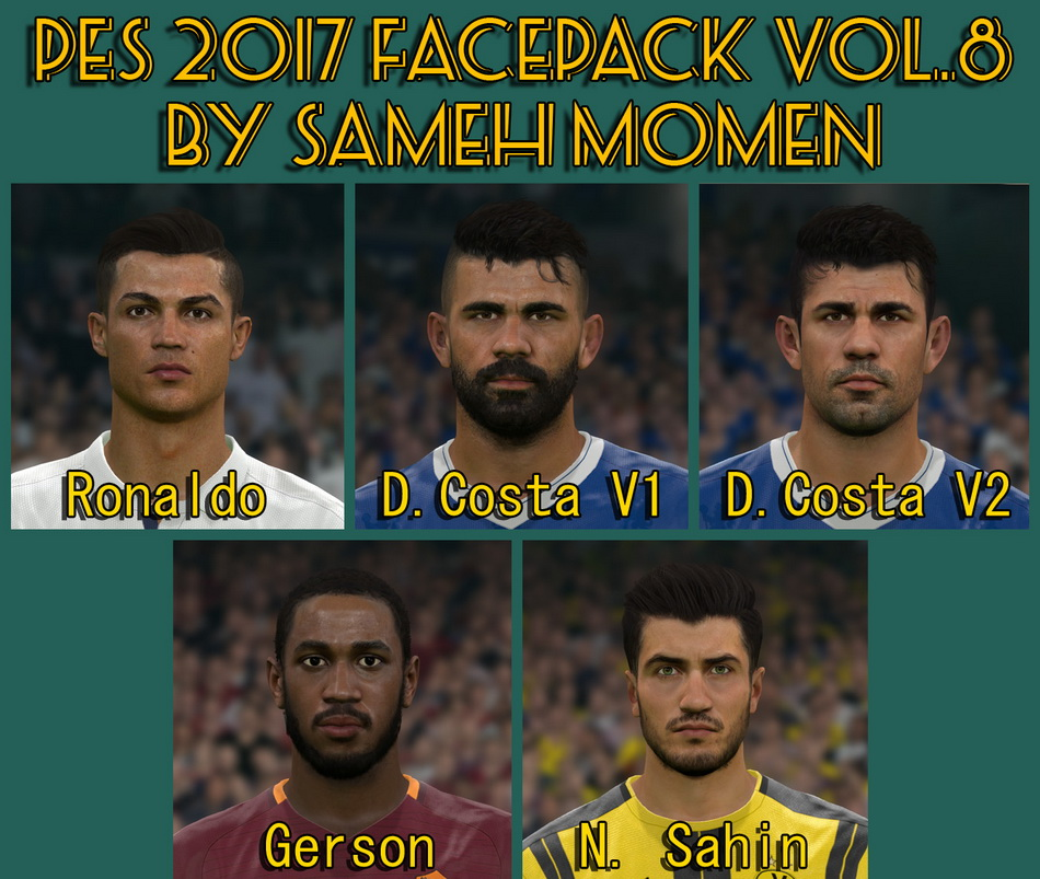 PES 2017 facepack vol.8 by Sameh Momen